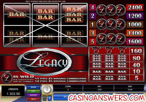 legacy classic microgaming slot