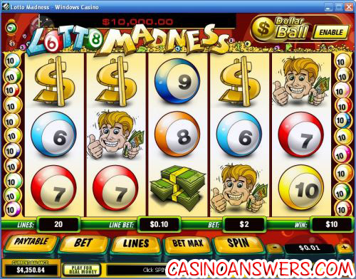 lotto madness playtech video slot