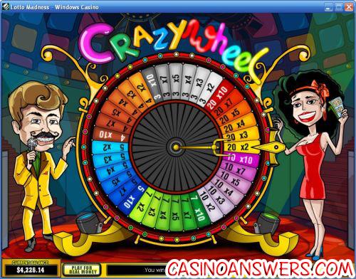 lotto madness video slot bonus game