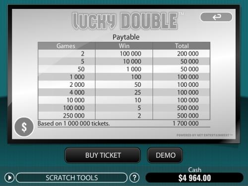 lucky double scratch card bonus