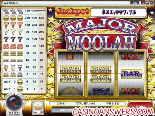 major moolah progressive jackpot slot