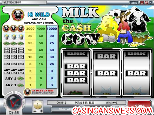 milk the cash cow slot machine