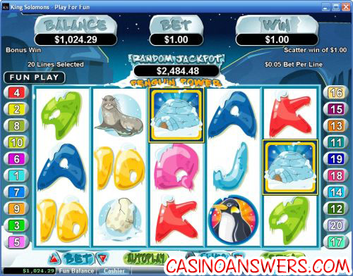 penguin power rtg video slot