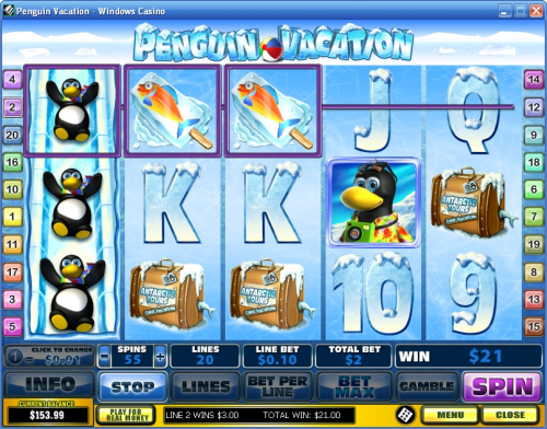 penguin vacation video slot