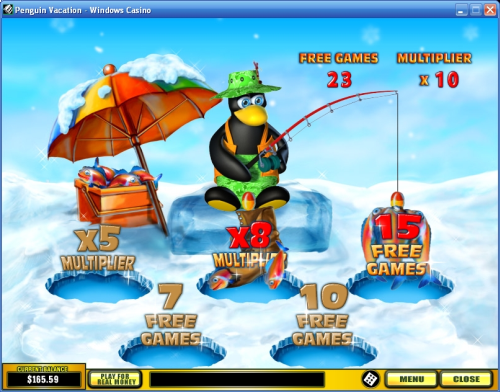 penguin vacation bonus game