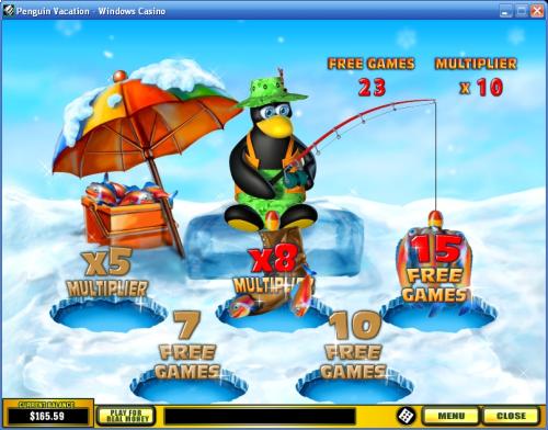 penguin vacation bonus game