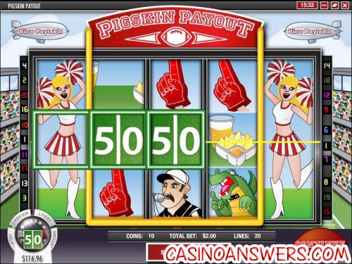 pigskin payout bonus game