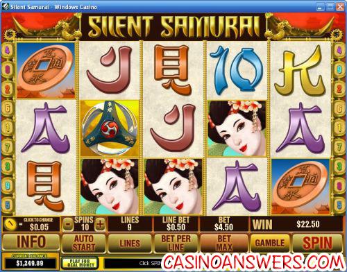 silent samurai video slot