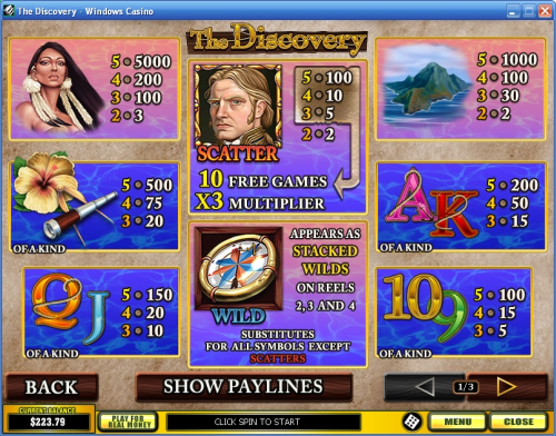 discovery video slot bonus game