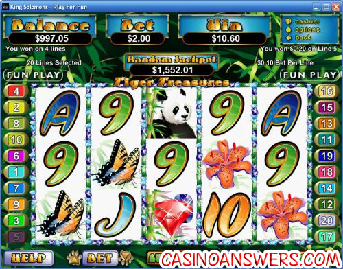 tiger treasures rtg video slot