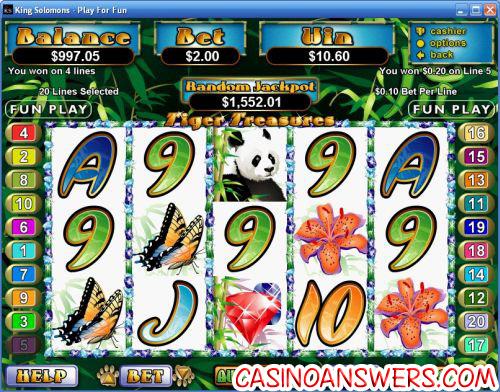 Tiger Treasures Slot Machine