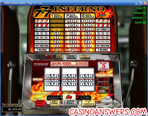 More than 25 FREE slots with large smoothly animated reels and realistic slot machine sounds.