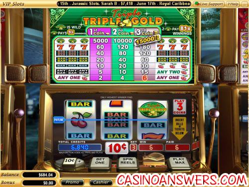 triple triple gold slot machine