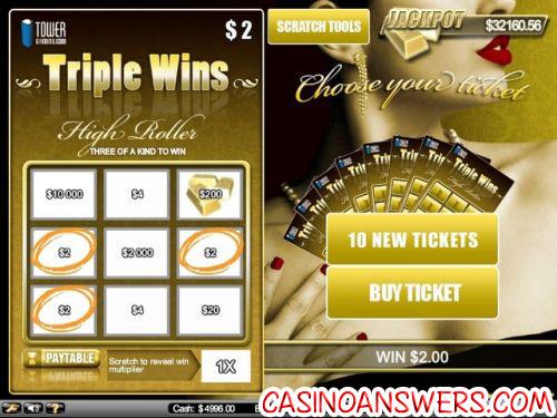 Triple Wins Scratch Card