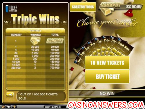 Triple Wins Scratchcard