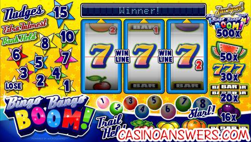 bingo bingo boom fruit machine win