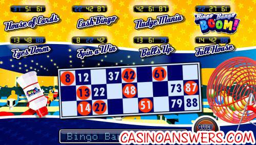 bingo bango boom nudge bonus game