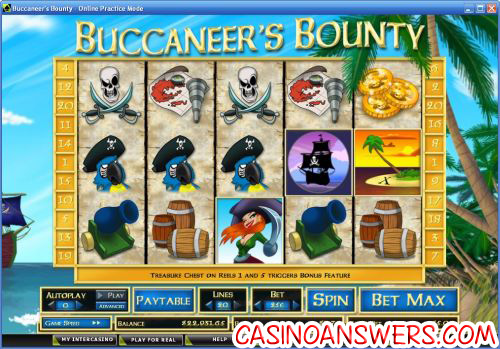 buccaneers bounty video slot