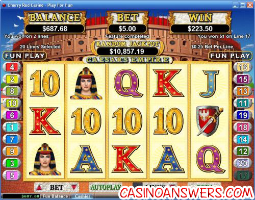 caesars empire video slot