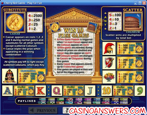 caesars empire casino flash game