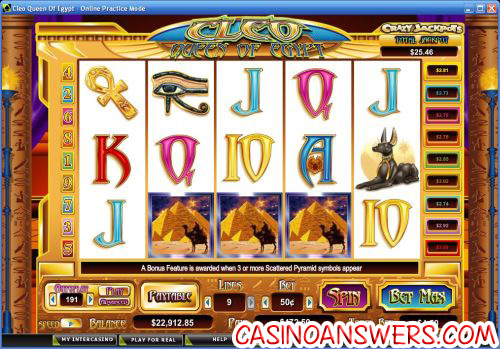 cleo queen of egypt video slot