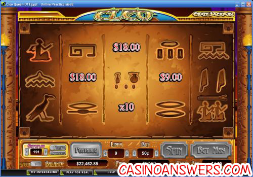 cleo queen of egypt casino bonus game