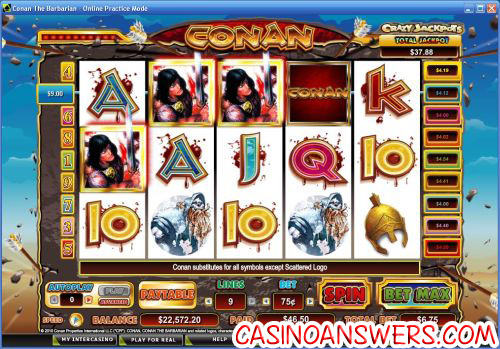 conan the barbarian video slot