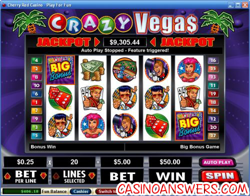 crazy vegas video slot