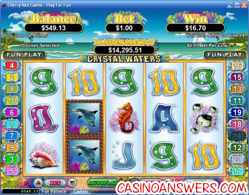 crystal waters video slot