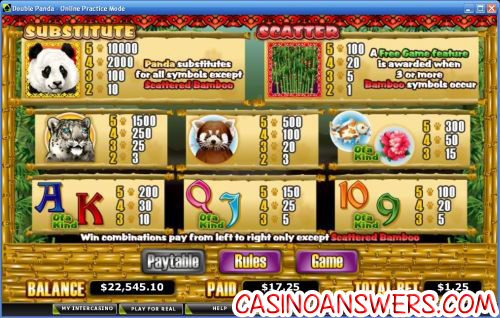 double panda bonus game