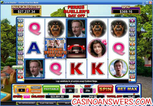 ferris buellers day off video slot