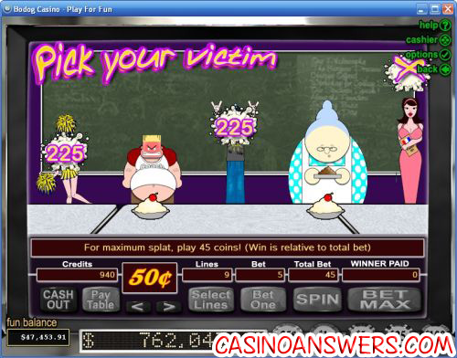 food fight casino game