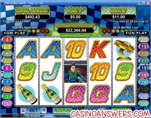green light video slot