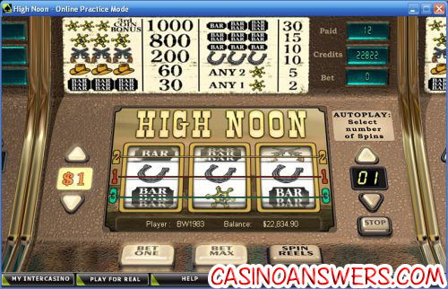 high noon classic slot