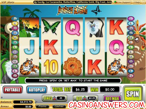 jungle king video slot