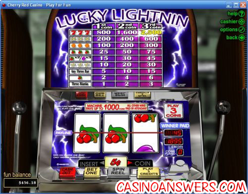 lucky lightnin rtg classic slot
