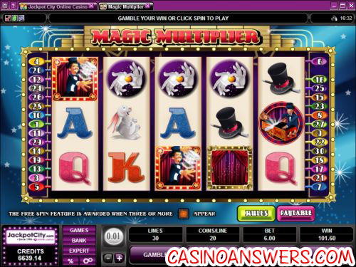 magic multiplier video slot