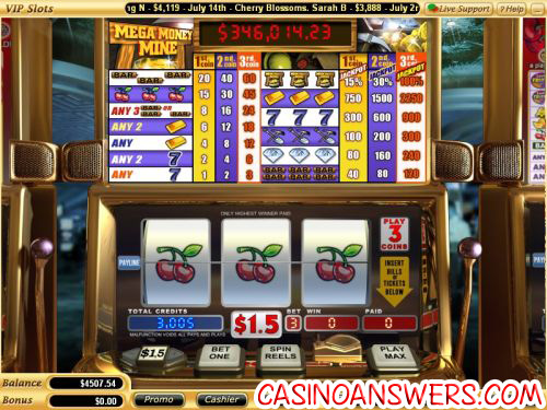 mega money mine video slot