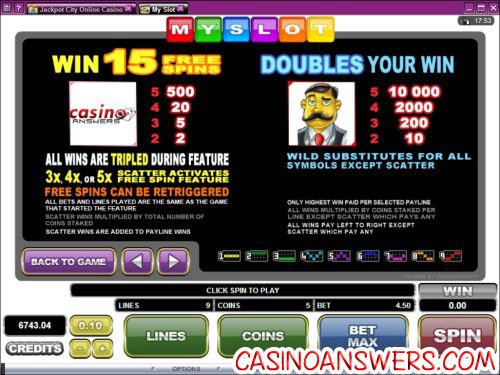 my slot custom bonus game