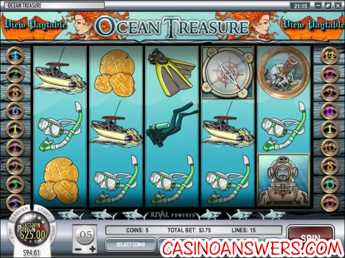 ocean treasure video slot