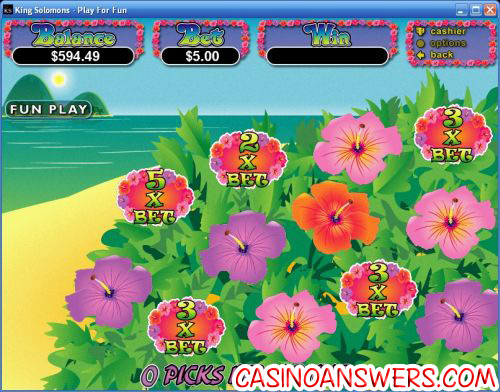paradise dreams bonus game