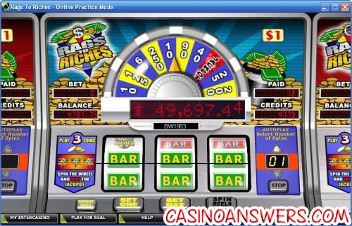 rags to riches 3 reel classic slot