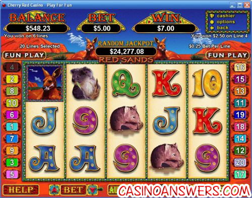 red sands video slot