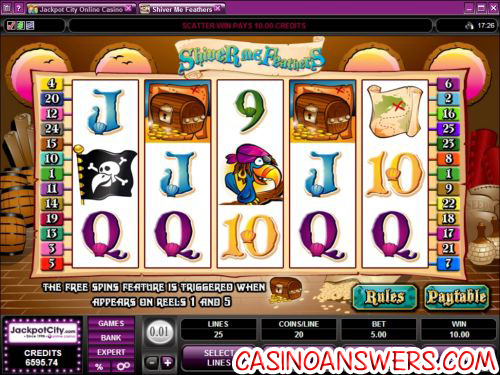 shiver me feathers video slot