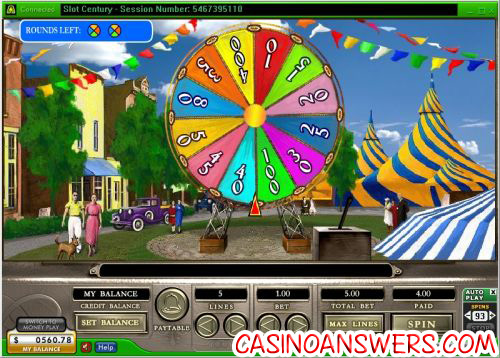 slot century bonus game wheel of fortune