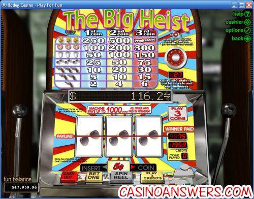 the big heist classic slot