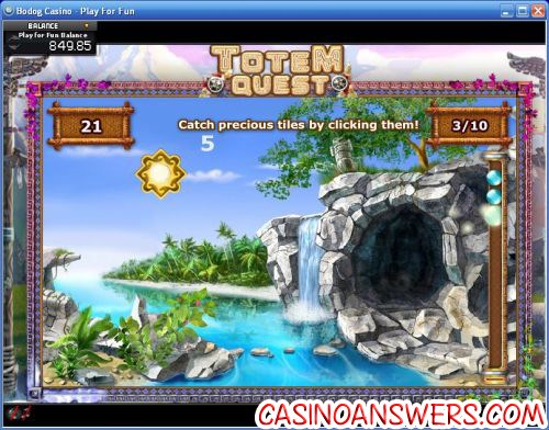 totem quest casino bonus game