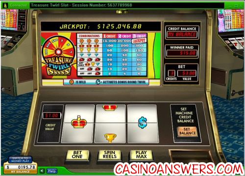 treasure twirl progressive jackpot slot