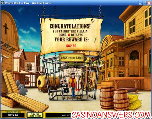 wanted dead or alive casino game