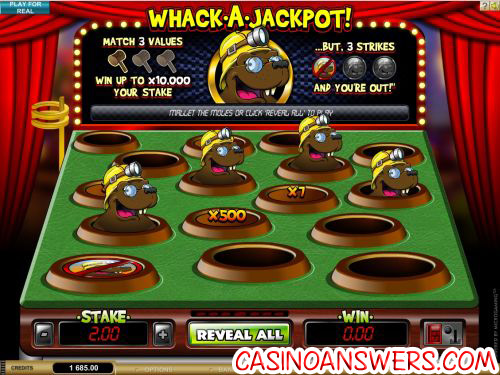 whack a jackpot scratch card